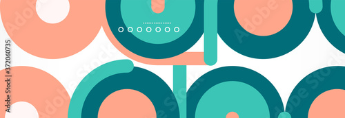 Fotografering Circles and lines abstract background for covers, banners, flyers and posters an