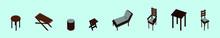 Set Of Garden Furniture And Su...