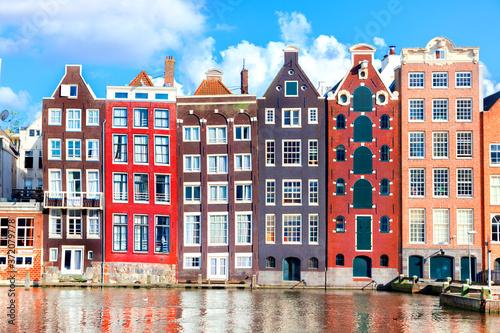 Vászonkép Houses in Amsterdam