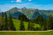 canvas print picture - Grosses Walsertal Berge