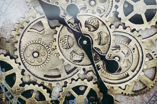 Mécanisme en métal d'une horloge - Roues d'horlogerie Canvas