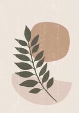 Botanical Print Boho Minimalis...