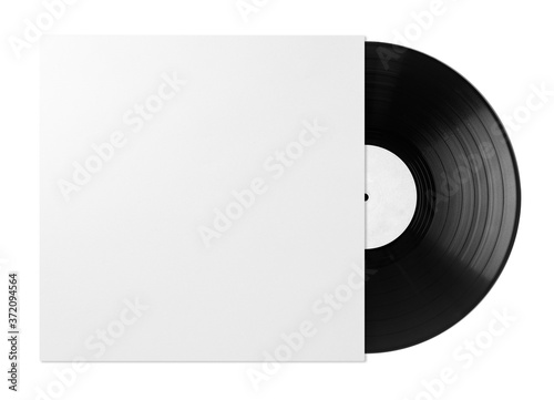 Fototapeta white vinyl disc cover with vinyl obraz