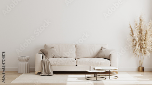 Fotografering Scandinavian style living room interior mock up, modern living room interior bac