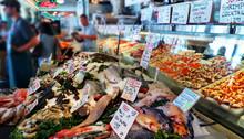 Pike Place Market Produce, Seattle, Food Market, Fish