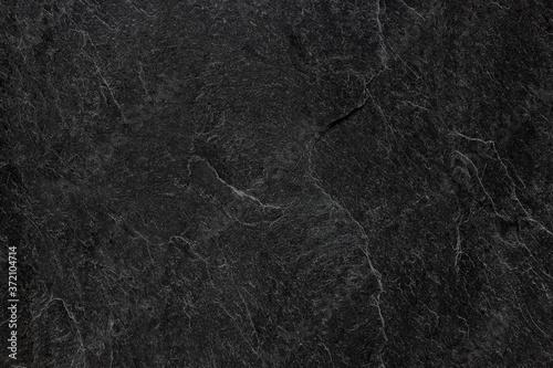 Fototapeta Dark grey black slate background or texture.