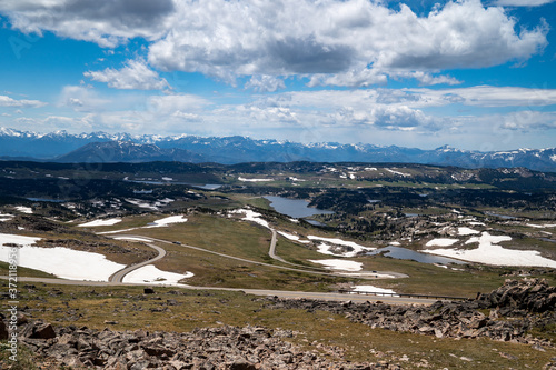 Foto The twisty roads of the Beartooth Pass (US Highway 212) in Wyoming and Montana