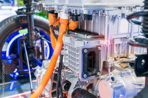 electric system of eco car front engine Automotive part concept Fototapete