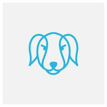 Shiba Inu Dog Line Head Icon M...