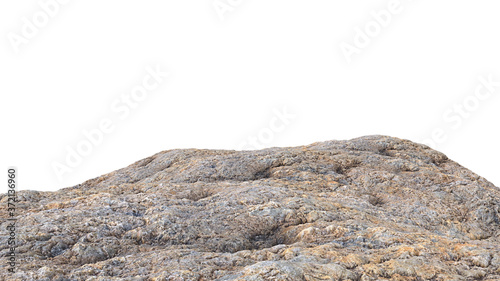 Fotografie, Tablou rocky cliff isolated on white background, edge of the mountain