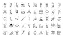 Bundle Of Fifty Make Up Cosmetics Set Icons