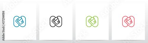 Fototapeta Roll Of Paper On Letter Logo Design N obraz