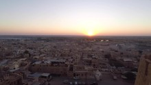 Scenic View Of Sunrise Over The Jaisalmer City In Rajasthan, India. - Timelapse