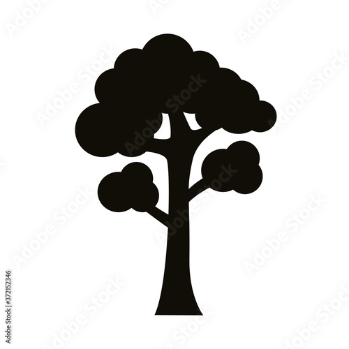 Obraz na plátně branched tree silhouette style icon