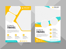 Vacation Travel Brochure Flyer Design Template. Summer Brochure Template