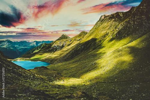 Obraz sky, mountain, landscape,  nature, night,  beautiful, beach, winter, snow, sunset, ocean, fall,  - fototapety do salonu