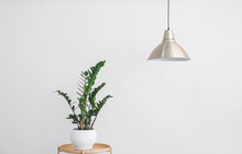 Stylish Lamp Hanging Near Ligh...