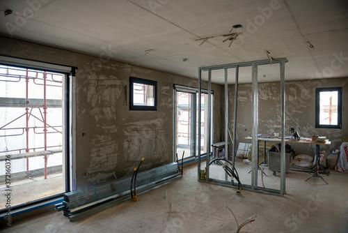 Modern Apartment Under Construction in Switzerland. Fototapete