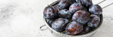 Ripe Plum. Lots Of Plums In A ...