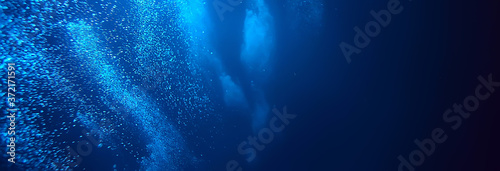 Foto bubbles air under water ocean background diving nature abstract background under