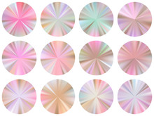 Circle Metallic Gradient Disk Elements Vector