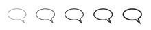 Simple Speech Bubbles. Vector Illustration