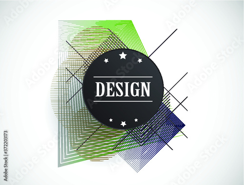 Minimalistic Creative concept . Flat style . Geometric lines and design elements form unusual shape . Vector abstract background . Dynamic banner Wall mural
