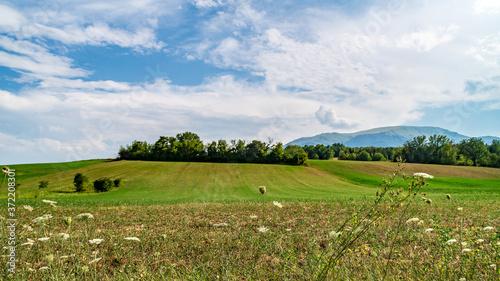 Fotografering Vista lungo la via delle cascate perdute a Sarnano nelle Marche