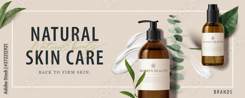 Tablou Canvas Ad banner for beauty product