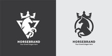Horse Crest Logo In Triangle A...