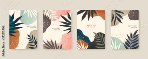 Nordic style cover template set Fototapeta