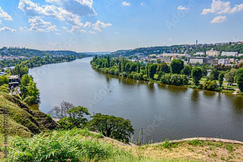 Fotografie, Obraz Praga, fiume Moldava panorama da Vyšehrad