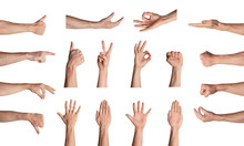 Collection Of Male Hands Gestu...