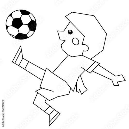 Coloring Page Outline Of A Cartoon Boy With A Soccer Ball. Coloring Book  For Kids. - Buy This Stock Vector And Explore Similar Vectors At Adobe  Stock Adobe Stock