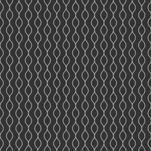 Grey Modern Monochrome Curved Lines Geometrical Shape Seamless Pattern For Background, Wallpaper, Texture, Cover, Banner, Label, Etc. Vector Design