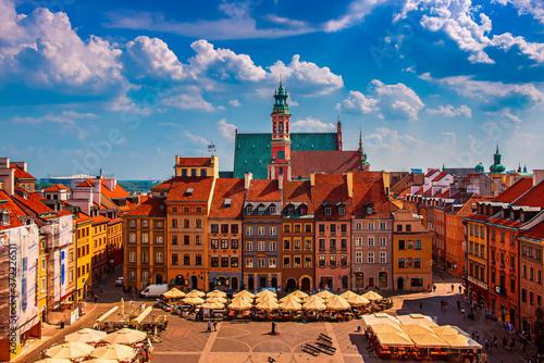 Obraz Rynek w Warszawie, Polska - fototapety do salonu