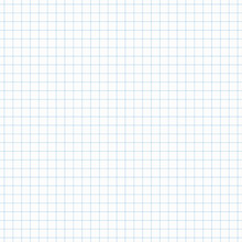 Simple Blue Grid Seamless Pattern, Page With A Continuous Square Grid, Quadrille , Quad Paper For Background, Banner, Label, Card, Cover, Texture In Education Theme Etc. Vector Design.