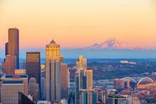 Seattle City Downtown Skyline ...