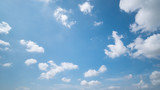 Fototapeta Na sufit - Panoramic beautiful, clear blue sky background, clouds with background.