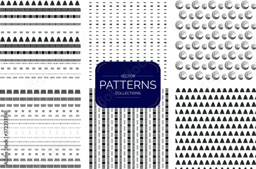Fototapeta Collection of  seamless patterns