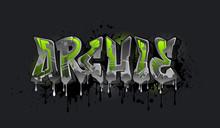 Archie Graffiti Name Design