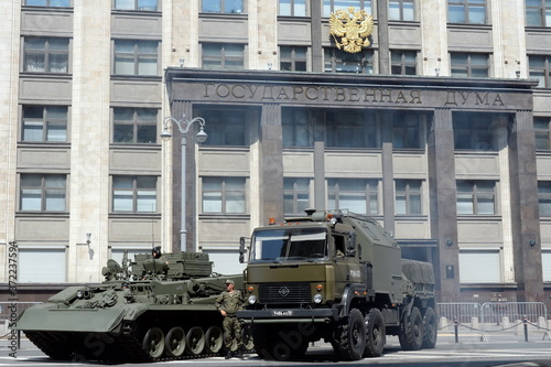Photo Repair and evacuation vehicles: armored BRAM-1 and light REM-KL at The state