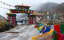 Colorful Gateway With Buddhist...