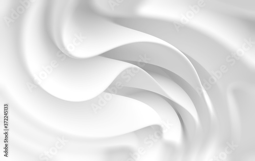 White Flowing Background Fototapet