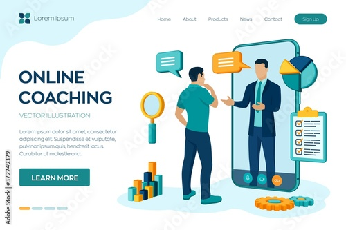 Coaching and mentoring concept Fotobehang