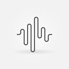 Sound Wave Vector Concept Icon...