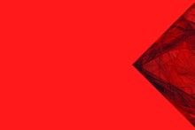 Black And Red Arrow, Arrowhead Pointing Left. Abstract Red Background For Design And Decoration. Red Base For Web And Print