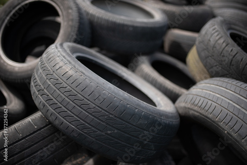 Industrial landfill for the processing of waste tires and rubber tyres Canvas