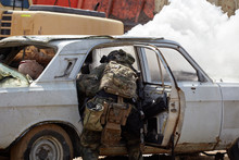 Special Forces Soldiers Storm The Car