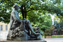 Statue Of Writer And Poet Thomas Hardy In Dorchester Dorset UK